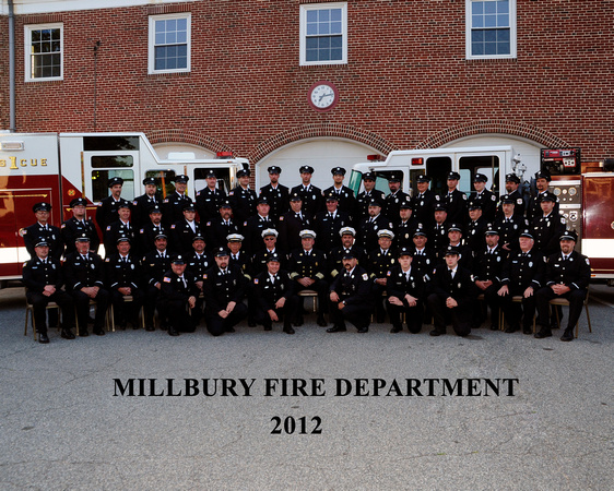 Millbury Fire Department group photo from family portrait fundraiser